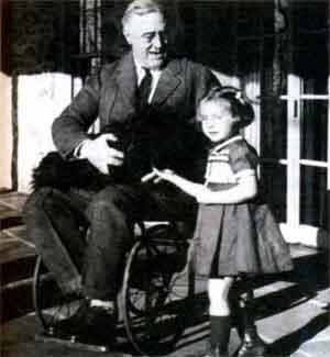 Рузвельт с дочерью Энн