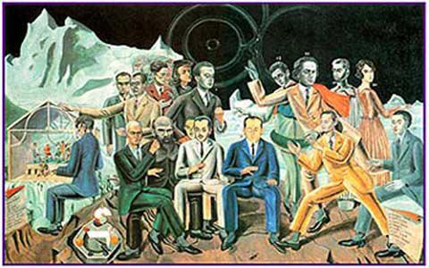 М. Эрнст. Рандеву с друзьями. 1922. Музей Людвига, Кёльн