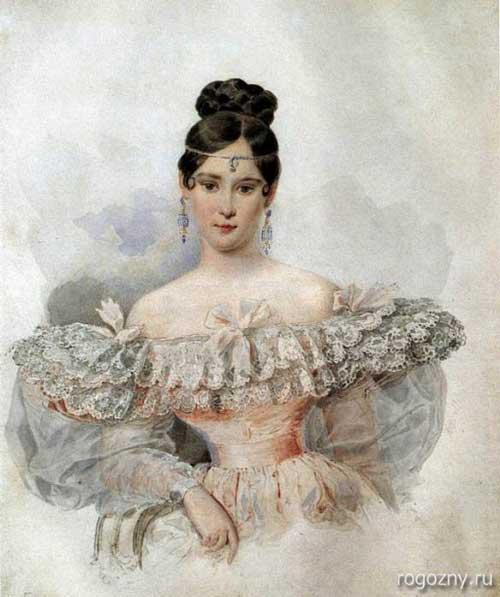 А.П.Брюллов. Портрет Н.Н. Гончаровой (Пушкиной), 1832 г.