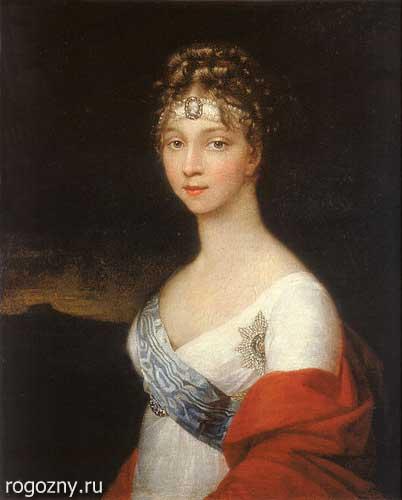 Императрица Елизавета Алексеевна в жемчужной повязке