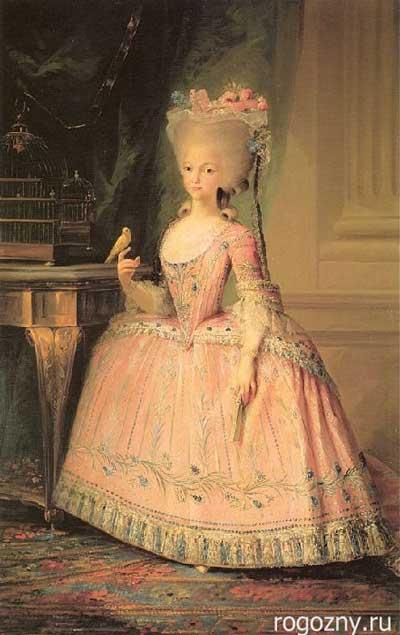 Прическа  в стиле рококо