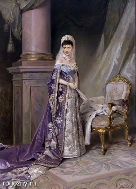 Императрица Мария Федоровна в диадеме - кокошнике